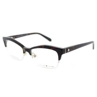 Kate Spade KS Lyssa 086 Havana Plastic Cat-Eye Eyeglasses 51mm