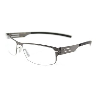ic! berlin Serge K. Gunmetal Metal Rectangle 53mm Eyeglasses