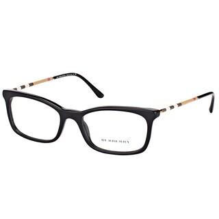 Burberry BE 2243Q 3001 Black Plastic Rectangle Eyeglasses 53mm