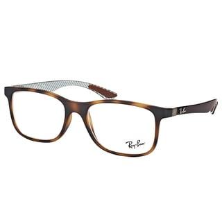 Ray-Ban RX 8903 5200 Matte Havana Plastic Square Eyeglasses 55mm