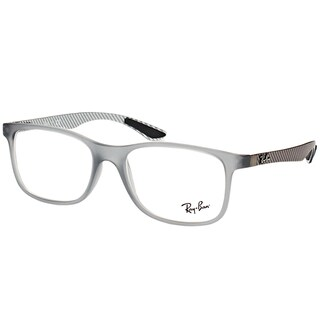 Ray-Ban RX 8903 5244 Matte Transparent Grey Plastic Square Eyeglasses 55mm