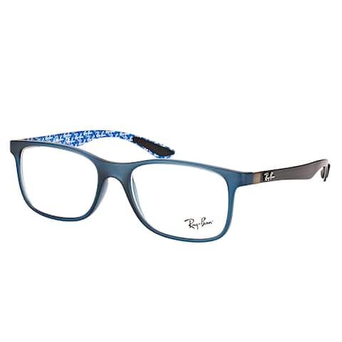 Ray-Ban RX 8903 5262 Matte Blue Plastic Square Eyeglasses 55mm