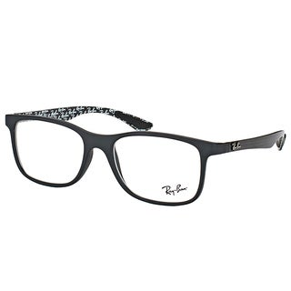 Ray-Ban RX 8903 5263 Matte Black Plastic Square Eyeglasses 55mm