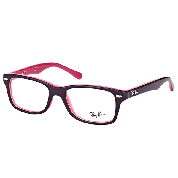 8ccc010556 Ray-Ban RY 1531 3702 Violet On Fuschia Plastic Square Eyeglasses 48mm