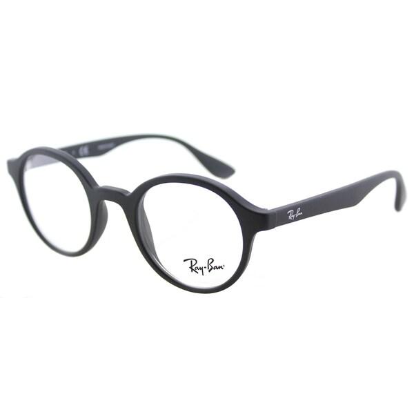 Shop Ray-Ban RY 1561 3615 Rubber Black Plastic Round Eyeglasses 41mm ...