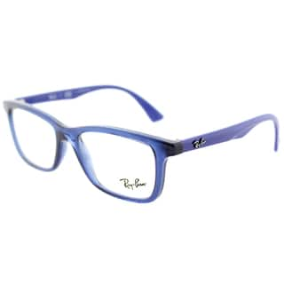 2bf708ffe4 Ray-Ban RY 1562 3686 Transparent Blue Plastic Rectangle Eyeglasses 48mm