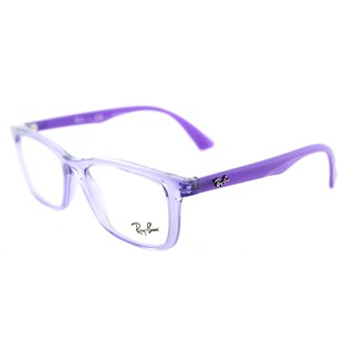 Ray-Ban RY 1562 3688 Transparent Violet Plastic Rectangle Eyeglasses 48mm