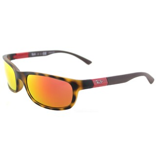 Ray-Ban RJ 9056 70266Q Matte Havana Plastic Sport Sunglasses Orange Flash Mirror Lens
