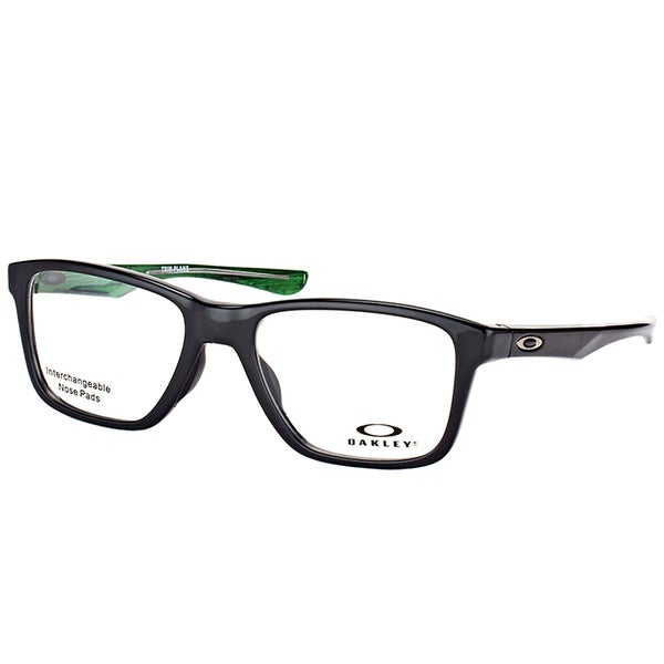 293d4b59f51c Oakley OX 8107 02 Trim Plane (TRUBRIDGE™) Polished Black Plastic Square  Eyeglasses 51mm