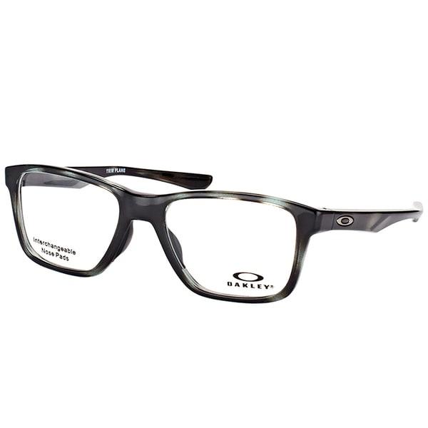 06fb8024e5 Oakley OX 8107 04 Trim Plane (TRUBRIDGE™) Polished Brown Tortoise Plastic  Square Eyeglasses