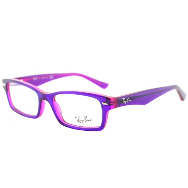 f9a4f0ae8a83 Ray-Ban RY 1530 3666 Violet on Fuxia Fluorescent Plastic Rectangle  Eyeglasses 46mm