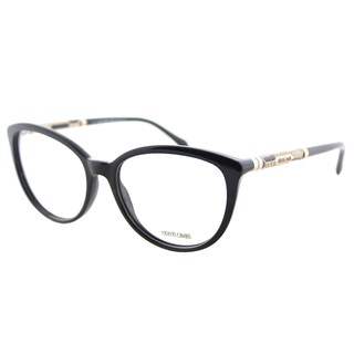 Roberto Cavalli RC 0963 002 Matte Black Plastic Cat-Eye Eyeglasses 54mm