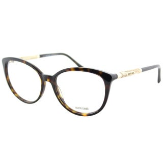 Roberto Cavalli RC 0963 052 Dark Havana Plastic Cat-Eye Eyeglasses 54mm