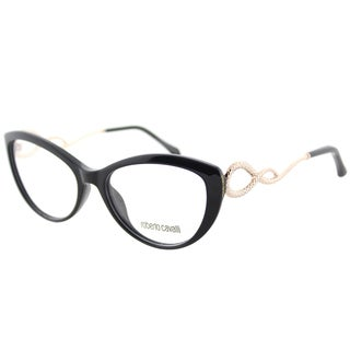 Roberto Cavalli RC 5009 001 Shiny Black Plastic Cat-Eye Eyeglasses 54mm