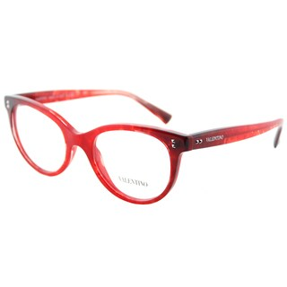 Valentino VA 3009 5033 Red Murble Gradient Black Plastic Cat-Eye Eyeglasses 50mm