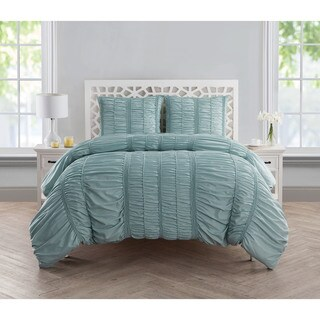 VCNY Home Holly Ruched Duvet Cover Set