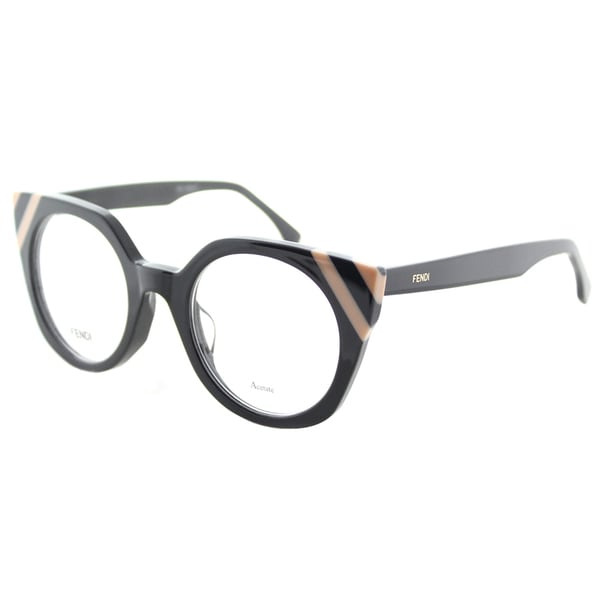 af73bfb816ec Fendi FF 0246 KB7 Waves Grey Striped Light Pink Plastic Cat-Eye Eyeglasses  48mm