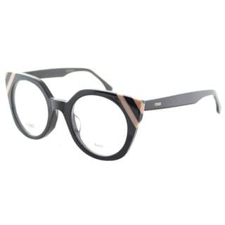 Fendi FF 0246 KB7 Waves Grey Striped Light Pink Plastic Cat-Eye Eyeglasses 48mm