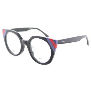 c95f9fe4a488 Fendi FF 0246 PJP Waves Dark Blue Striped Red Blue Plastic Cat-Eye  Eyeglasses 48mm