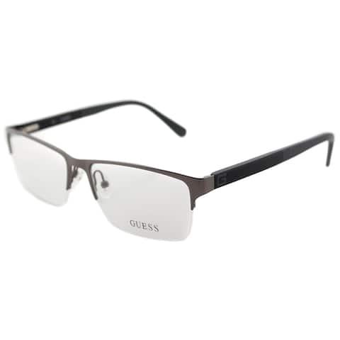 Guess GU 1879 009 Light Bronze Metal Semi-Rimless Eyeglasses 56mm