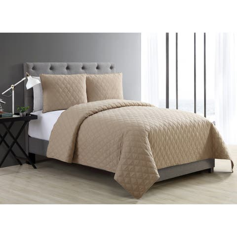 VCNY Home Buckingham Diamond Quilted Coverlet Set