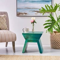 Robyn Mango Wood Table Stool by Christopher Knight Home