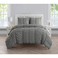 VCNY Home Holly Ruched 4-piece Comforter Set