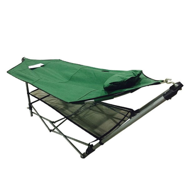 Foldable Outdoor Hammock / Stand - Set  in Army Green