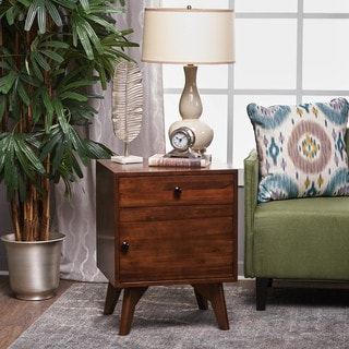 Cheri Acacia Wood Square Cabinet Table by Christopher Knight Home