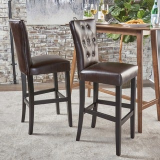 Traditional Faux Leather 30 Quot Bar Stool By Baxton Studio