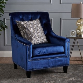 Jaclyn Velvet Club Chair by Christopher Knight Home