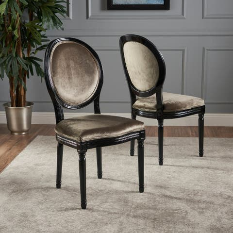 Phinnaeus Contemporary Velvet Dining Chairs (Set of 2) by Christopher Knight Home