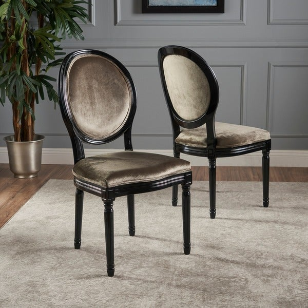 Camille Velvet Fabric Dining Chair (Set of 2) by Christopher Knight Home