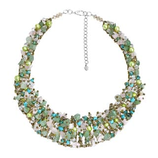 bib trend costume view multi fan zad fashion necklace detailed bead wholesale images