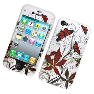 Insten Multi-Color Butterflies Hard Snap-on Case Cover For Apple iPhone 4/4S