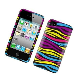 Insten Colorful Zebra Hard Snap-on Rubberized Matte Case Cover For Apple iPhone 4/4S