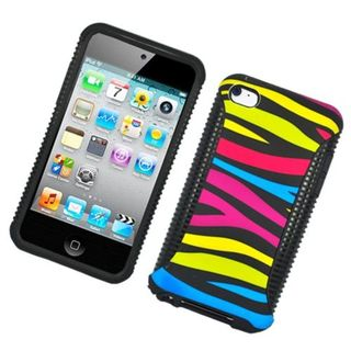 Insten Colorful Zebra Hard Snap-on Dual Layer Hybrid Case Cover For Apple iPod Touch 4th Gen