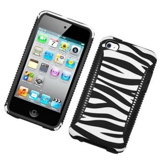 Insten Black/White Zebra Hard Snap-on Dual Layer Hybrid Case Cover For Apple iPod Touch 4th Gen
