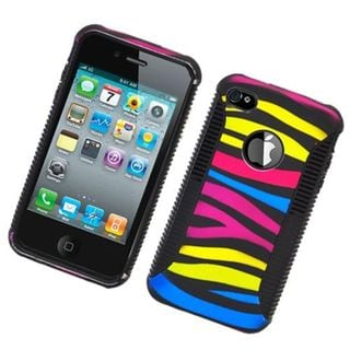 Insten Colorful Zebra Hard Snap-on Dual Layer Hybrid Case Cover For Apple iPhone 4/4S