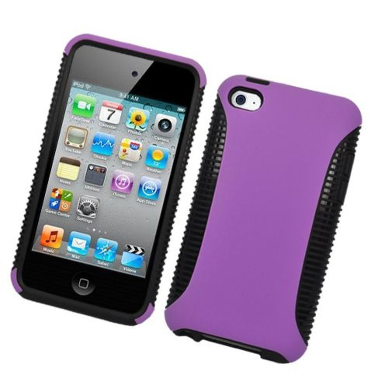 Insten Purple/Black Hard Snap-on Dual Layer Hybrid Case C...