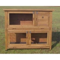 "Lovupet 48""  Wood Chicken Coop Hen House Rabbit Wood Hutch Poultry Cage Waterproof 2029"