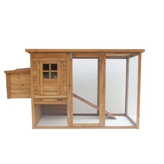 "Lovupet 72"" Wooden Chicken Coop Nest Box Pet Cage Rabbit Hutch"