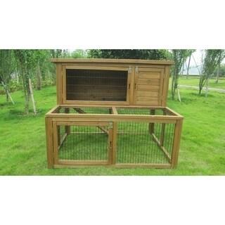 """Lovupet 48"""" Deluxe Wooden Chicken Coop Backyard Nest Box Pet Cage Rabbit Hen Hutch 4019"""