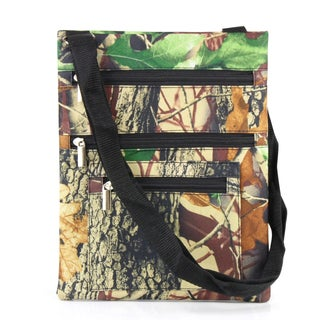 Zodaca Natural Camo Lightweight Padded Shoulder Cross Body Bag Messenger Travel Camping Zipper Bag