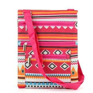 Zodaca Atec Print Lightweight Padded Shoulder Cross Body Bag Messenger Travel Camping Zipper Bag