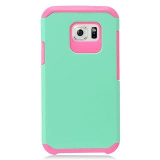 Insten Mint Green/Hot Pink Hard Snap-on Dual Layer Hybrid Case Cover For Samsung Galaxy S7 Active