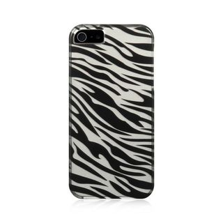 Insten Black/Silver Zebra Hard Snap-on Case Cover For Apple iPhone 5/5S