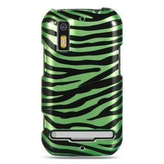 Insten Black/Green Zebra Hard Snap-on Case Cover For Motorola Photon 4G MB855
