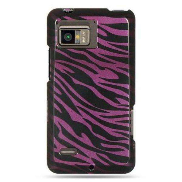 Insten Black/Hot Pink Zebra Hard Snap-on Case Cover For Motorola Droid Bionic XT875 Targa