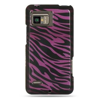 Insten Black/Hot Pink Zebra Hard Snap-on Case Cover For Motorola Droid Bionic XT875 Targa